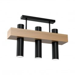 Lampa sufitowa WEST BLACK 3xGU10