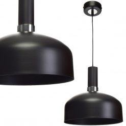 Lampa wisząca MALMO BLACK/CHROME 1xE27