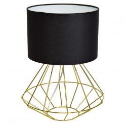 Lampa stojąca LUPO BLACK/GOLD 1xE27