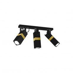 Lampa sufitowa VIDAR BLACK/GOLD 3xGU10