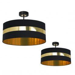 Lampa sufitowa PALMIRA BLACK / GOLD 1xE27 60W