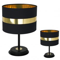 Lampa stołowa PALMIRA BLACK / GOLD 1xE27 60W