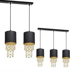 Lampa wisząca ALMERIA BLACK/GOLD 3xE27