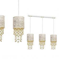 Lampa wisząca ALMERIA WHITE/GOLD 3xE27