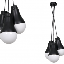 Lampa wisząca HELIOS BLACK 3xE14 40W