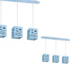 Lampa wisząca RALLY BLUE 3xE27 60W