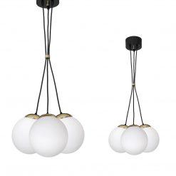 Lampa wisząca SPARTA BLACK / GOLD 3xE14