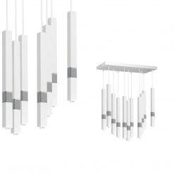 Lampa wisząca CASTRO WHITE / CHROME 11xG9