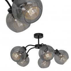 Lampa sufitowa SOFIA SMOKED 5xE27