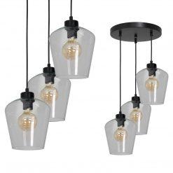 Lampa wisząca SANTIAGO CLEAR 3xE27